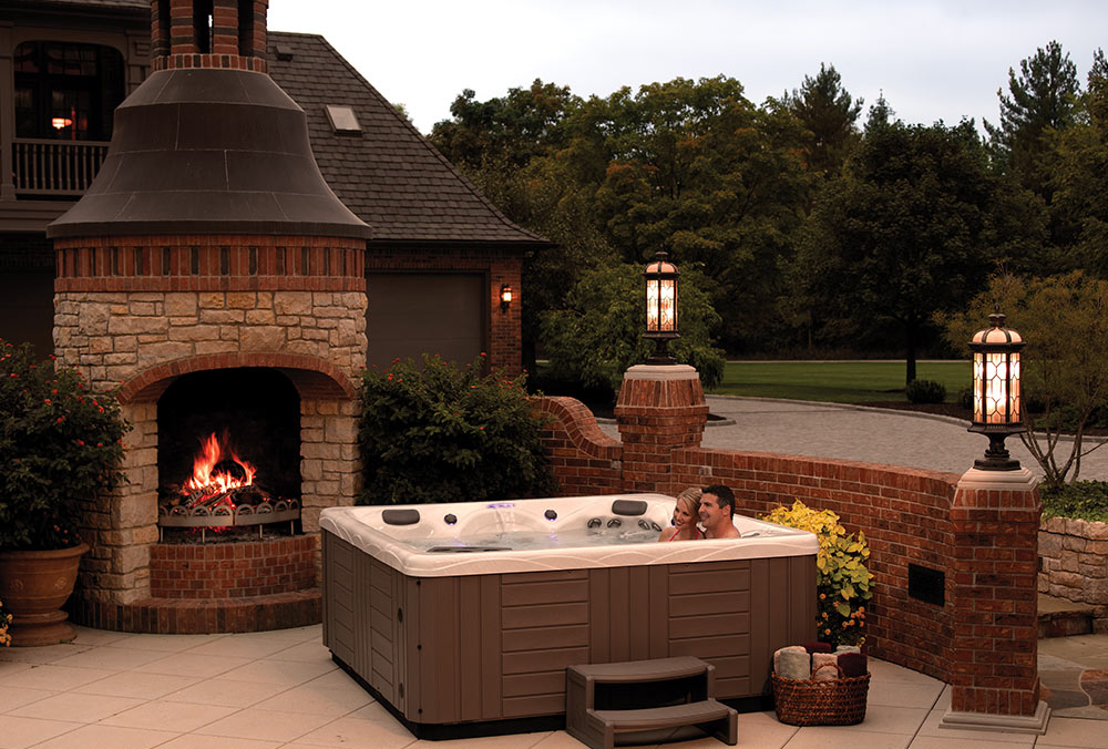 Backyard Hottub backyard ideas for hot tubs and swim spas